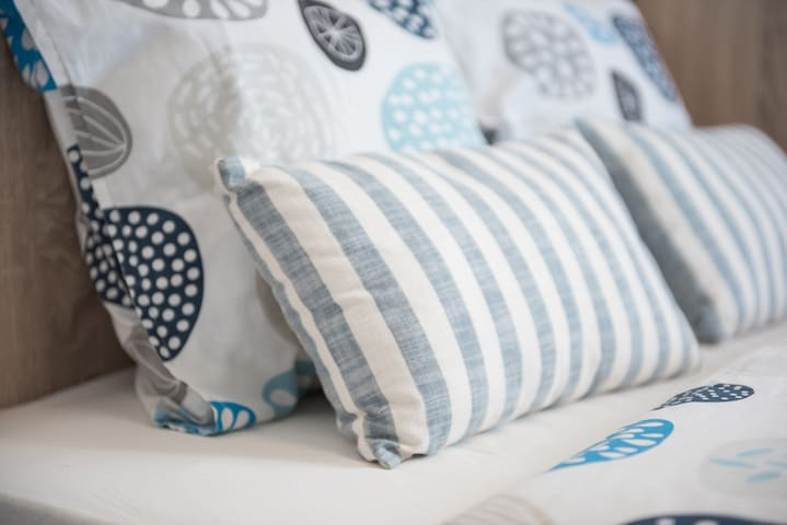 Beautiful and cozy pillows with a cotton linen