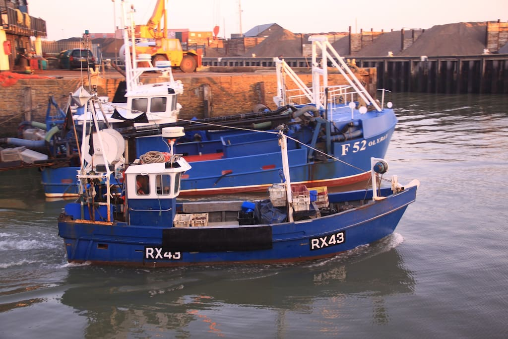 Whitstable Harbour is at the bottom end of our road, less than 300m away!