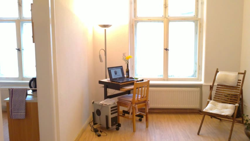 Helle kleine gemütl. Altbauwohnung mit Küche & Bad - Zittau - Apartemen