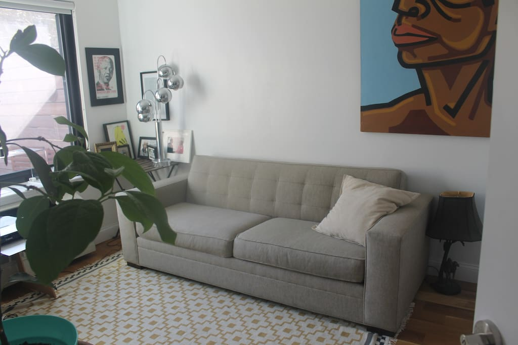 second bedroom with couch