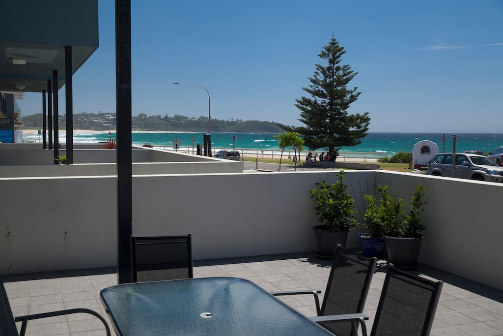 View to Mollymook Beach from Balcony