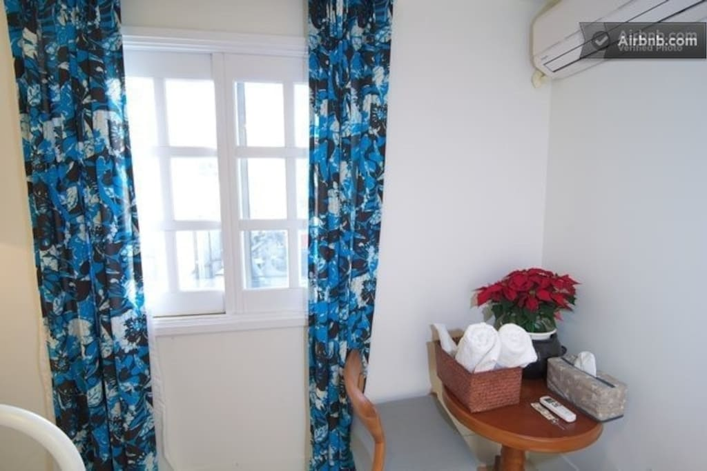 air-conditionner equipped in double room