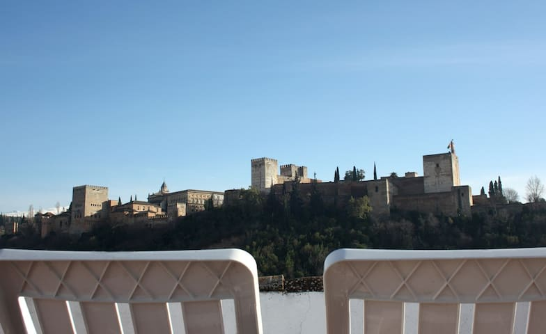 Astonishing views of the Alhambra - Grenade - Appartement