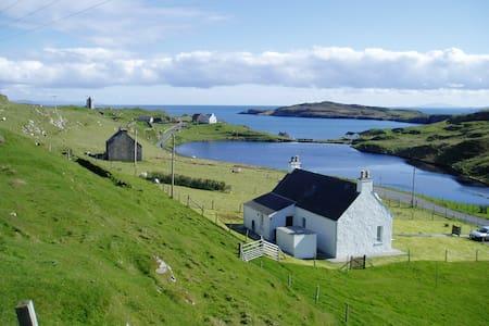 Romantic rural idyllic sea cottage