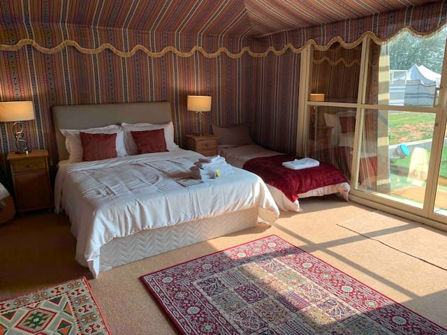 Dogs Welcome, A/C Deluxe Glamping Bedouin Tent (1)