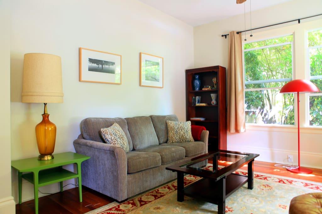 Naturally lit living room