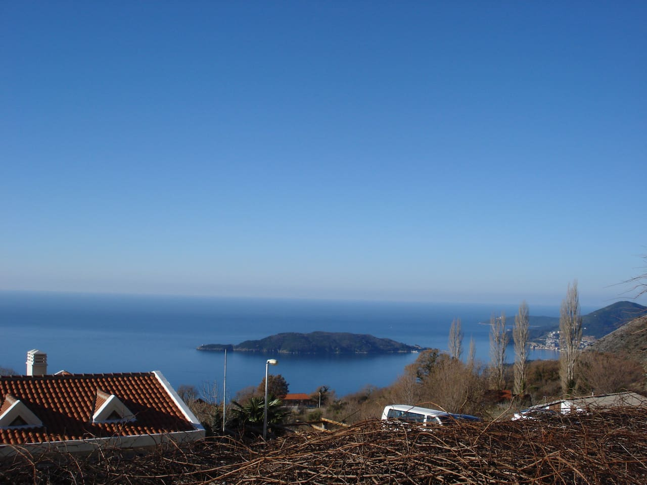 View from Our House on the Island of St Nicolas