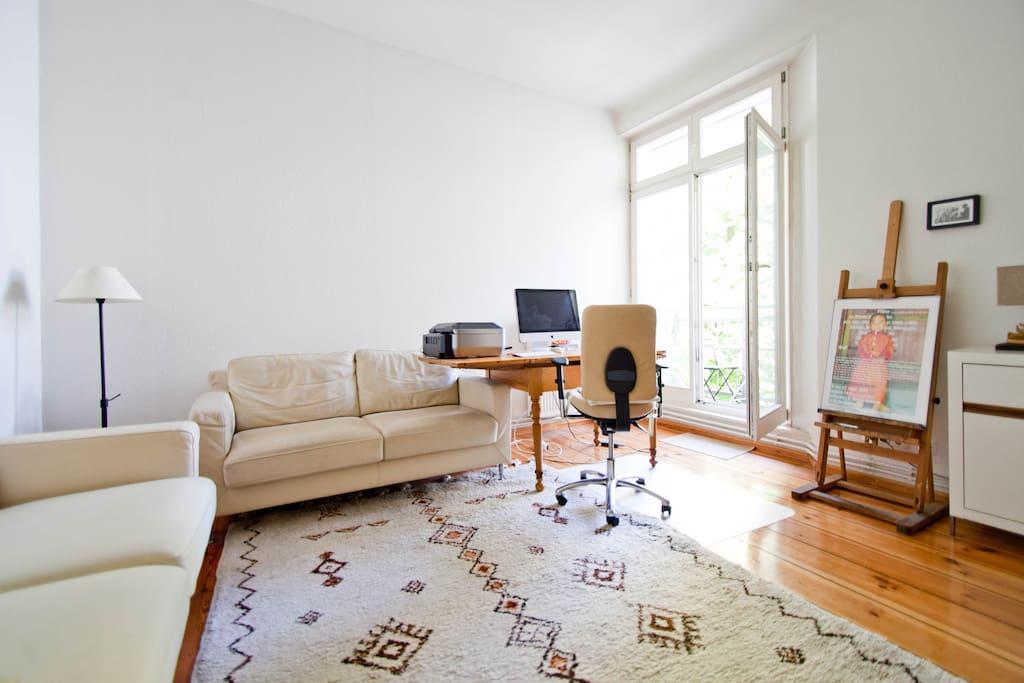Nutzung Wohnzimmer bei Vermietung ganze Apartment