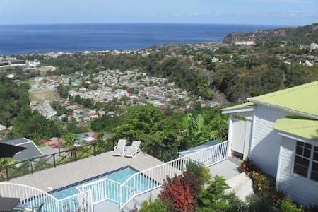 Cottage & Private Pool & Fab Views! - Roseau - Casa