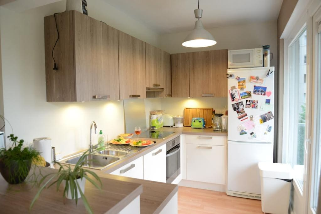 Fully equiped kitchen with dishwasher