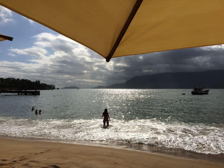 visual da Praia Grande, a 60 metros da casa