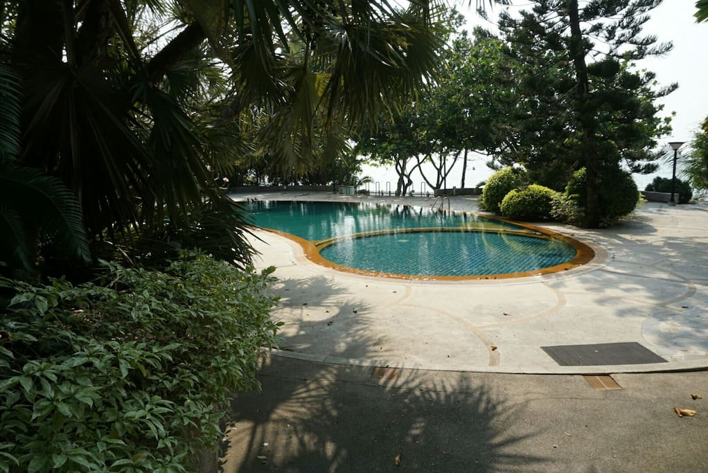 Pool with seaview