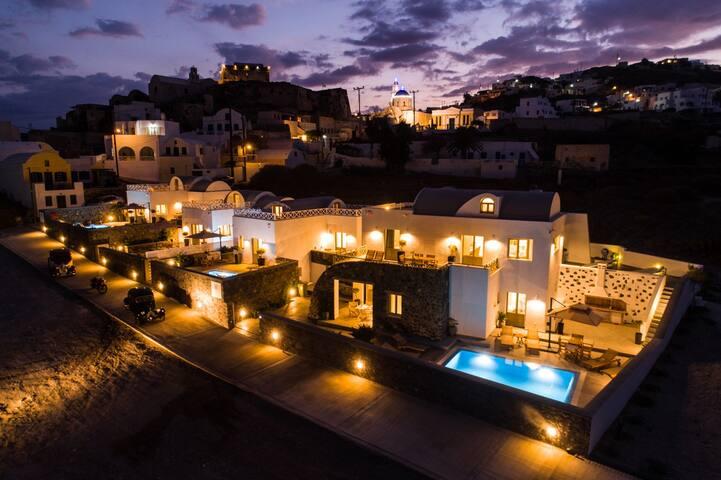 Luxury Home pool Santorini Akrotiri New