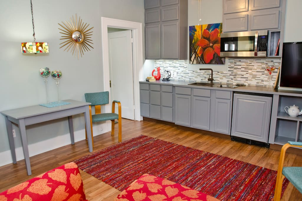 This main room has plenty of space for two.