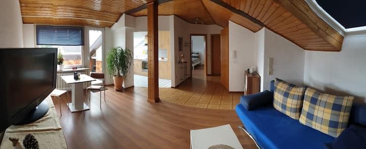 Gemütliche Dachwohnung mit Klima und Terrasse.