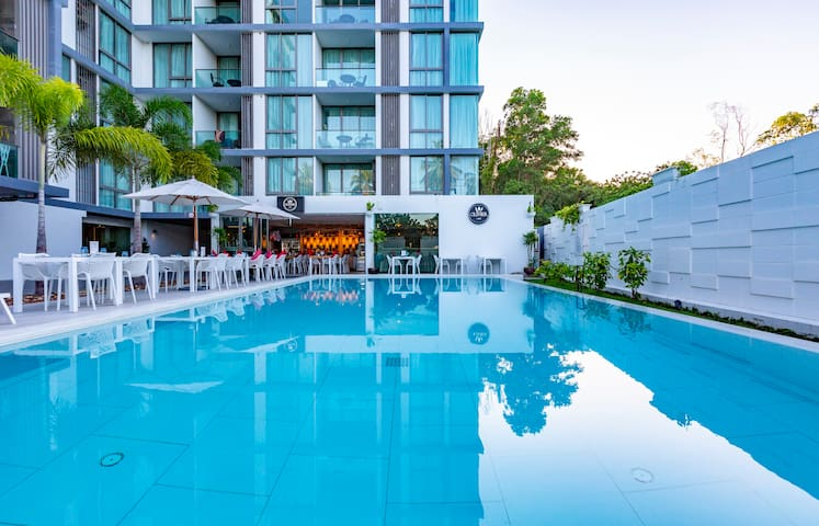 Cozy 1-BR apartments in condo Oceanstone, Laguna. 2 pools ❤️ BangTao (604)