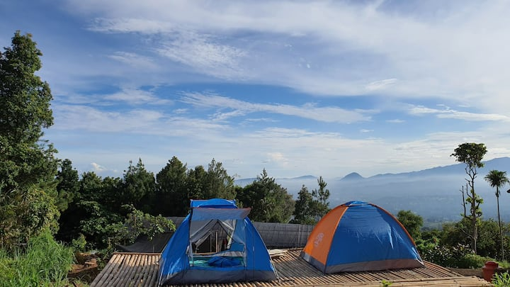 Villa Lumbung Salak City & Mountain View - Tent 1