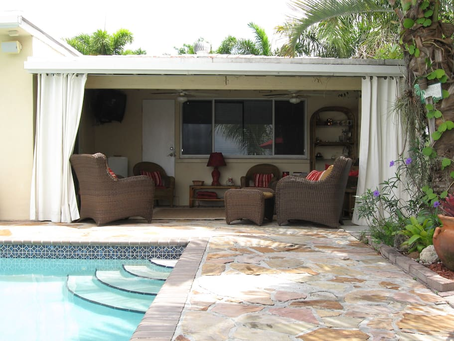 Your Private Pool Cabana with Ceiling Fans