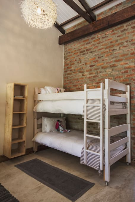 bunk-beds available for the children. DVD's available for free at reception