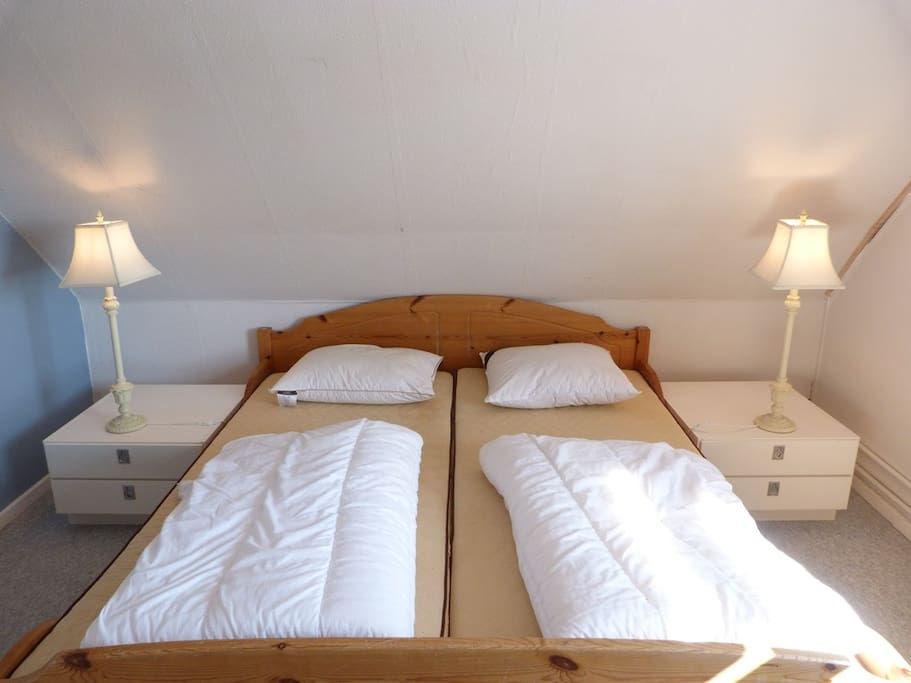 One of three bedrooms - one first floor with view to Rø golfcourse