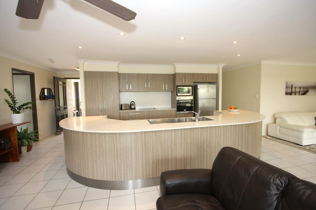 Large Kitchen is the hub of this spacious area. Comes with quality appliances.