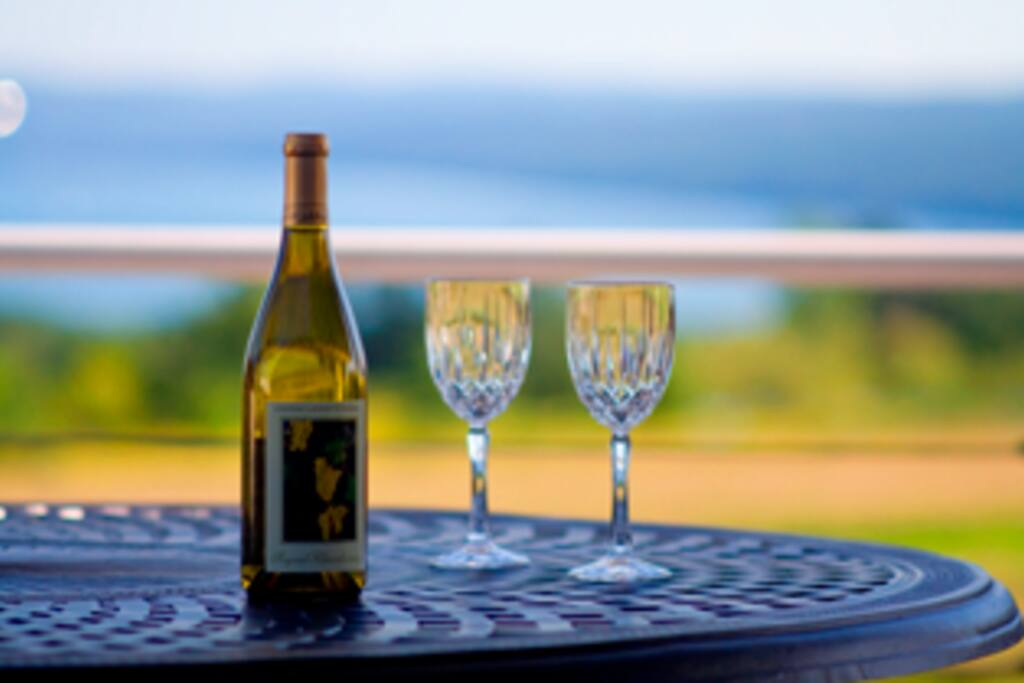 Our Location is on The Cayuga Lake Wine / Ithaca Art Trail,,,Our Balconies are perfect for sipping the grapes of the day~