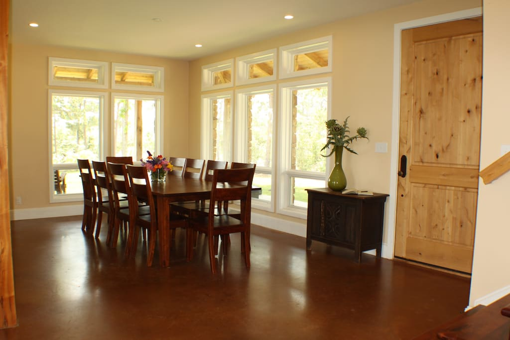 Spacious dining and entry.