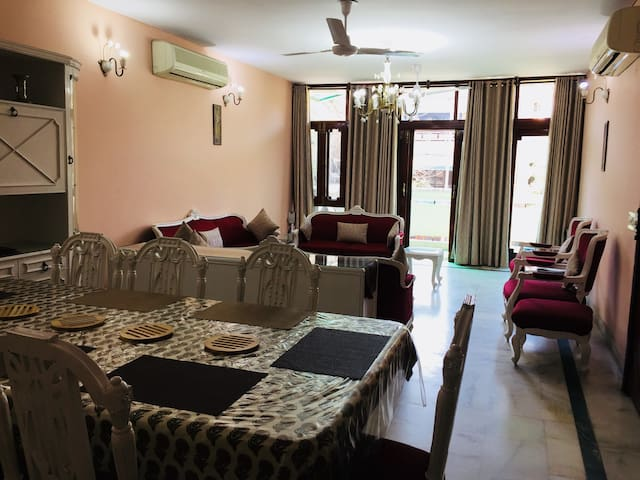 3 BHK with cook in South Delhi,GK2| Harmony Suites