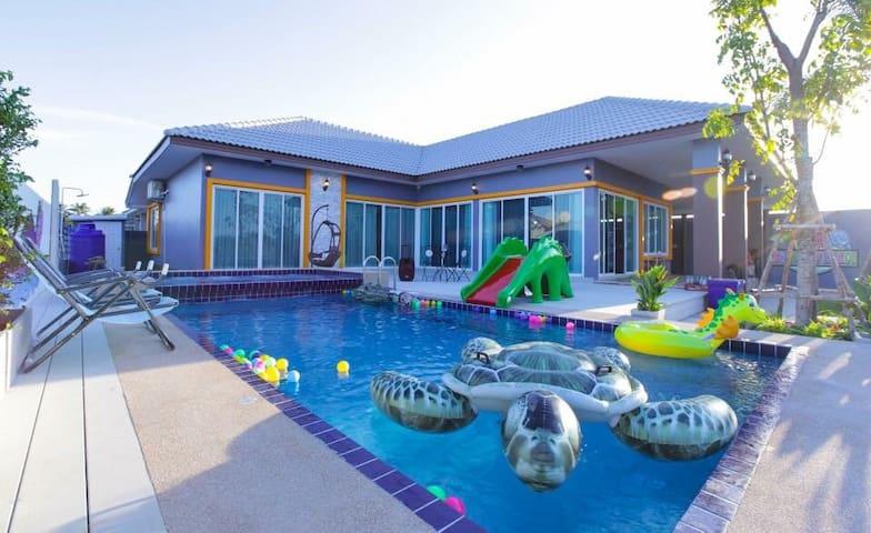 Dino Villa- Pool Villa at Cha am - Tambon Cha-am - House