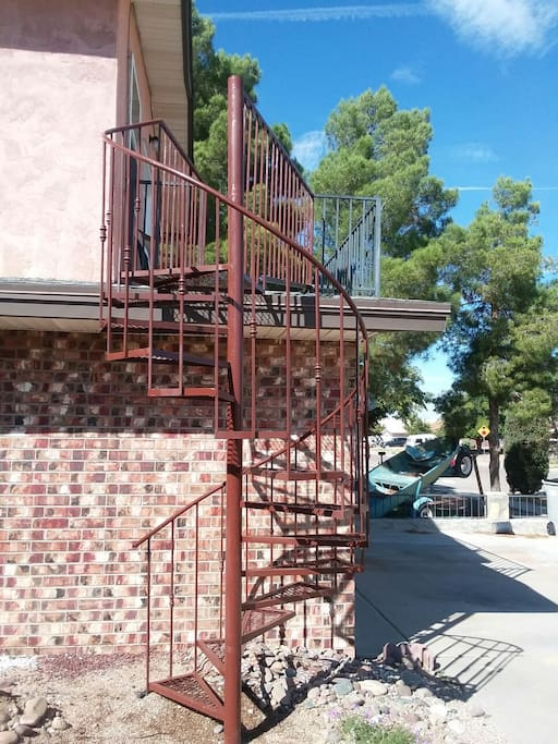 Outdoor Spiral Staircase (private entrance)
