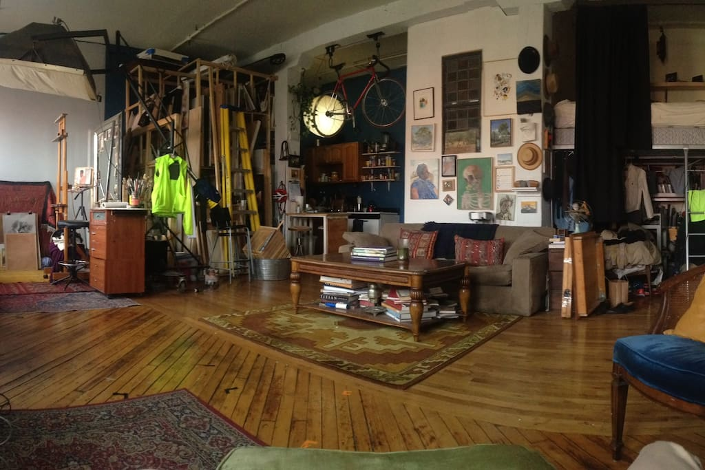 The Big Room, studio and living space