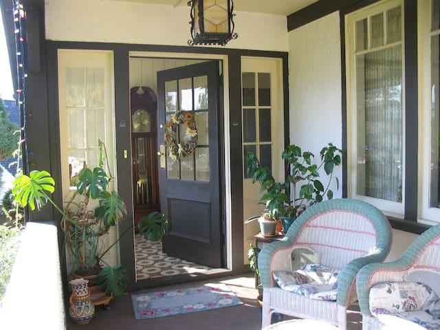 Main entrance and veranda