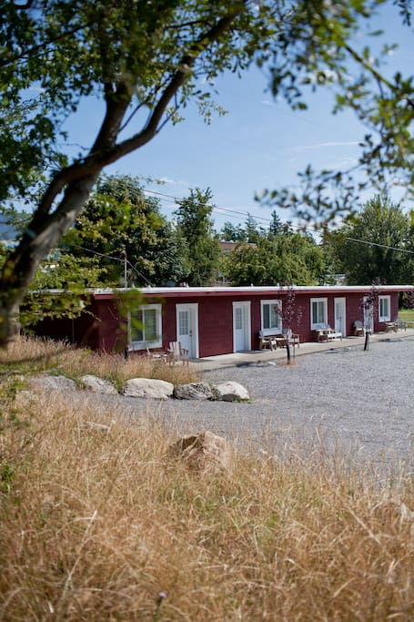 The Chinook Studio Apartment is located on eight pastoral acres