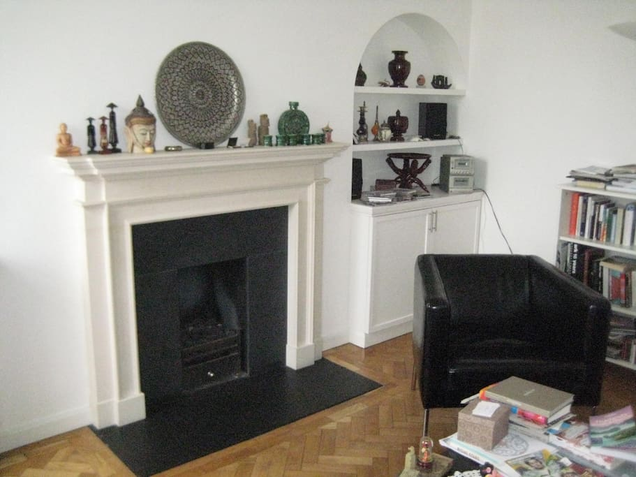 Gas fire place in living room