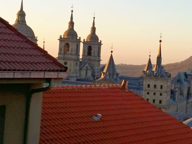 View of Monastery from Upper Floor