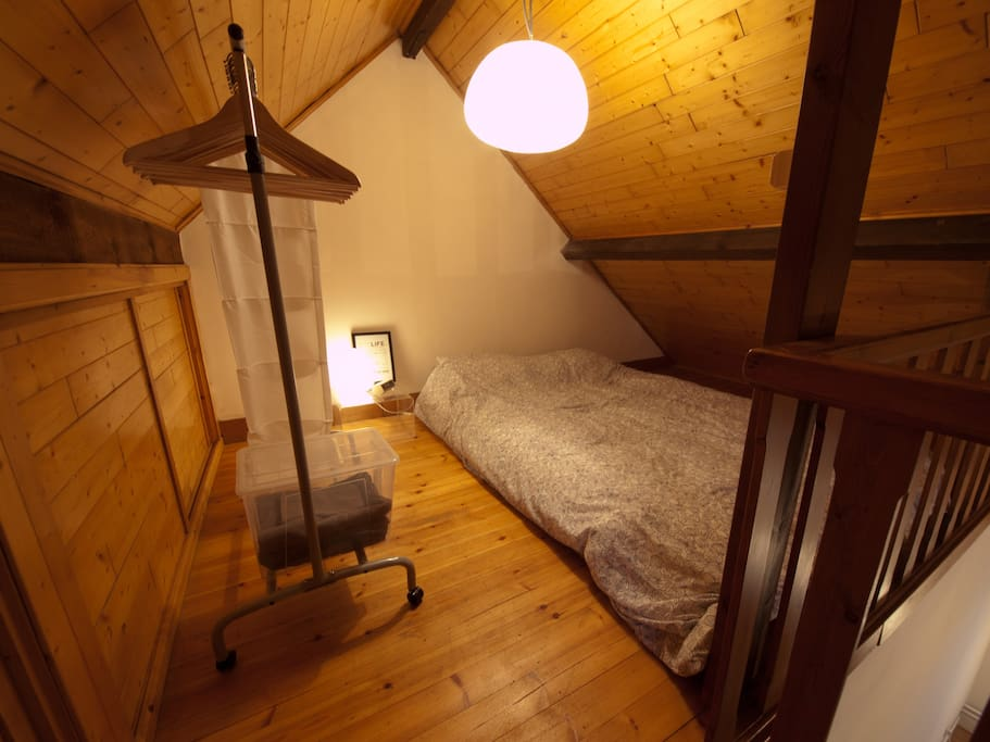 The sleeping area / mezzanine.
