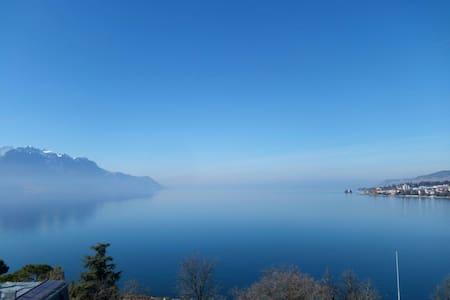 Chambre Vue Sur Lac Montreux - Montreux - Byt