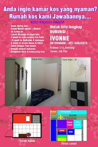 Rented Rooms in Central Jakarta - Central Jakarta - Hus