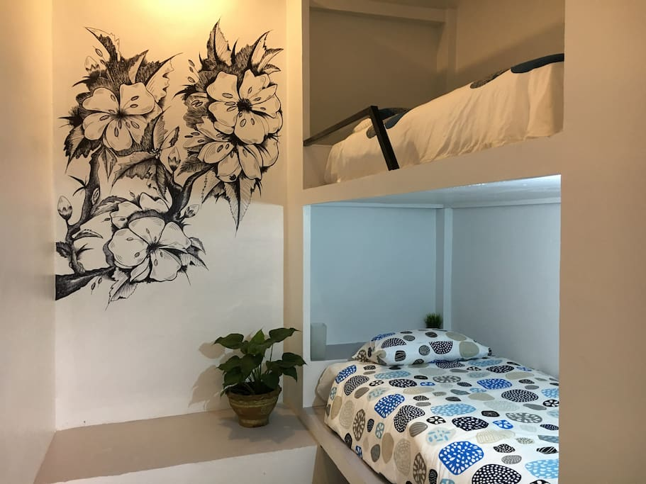 Shack up with a friend of have the space to yourself. This beautifully appointed room has been designed for maximum comfort and security, ideal for the money-conscious traveller.