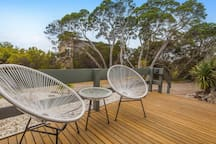 Front deck complete with 4 burner bbq (not in view). Keep an eye out for kookaburras.