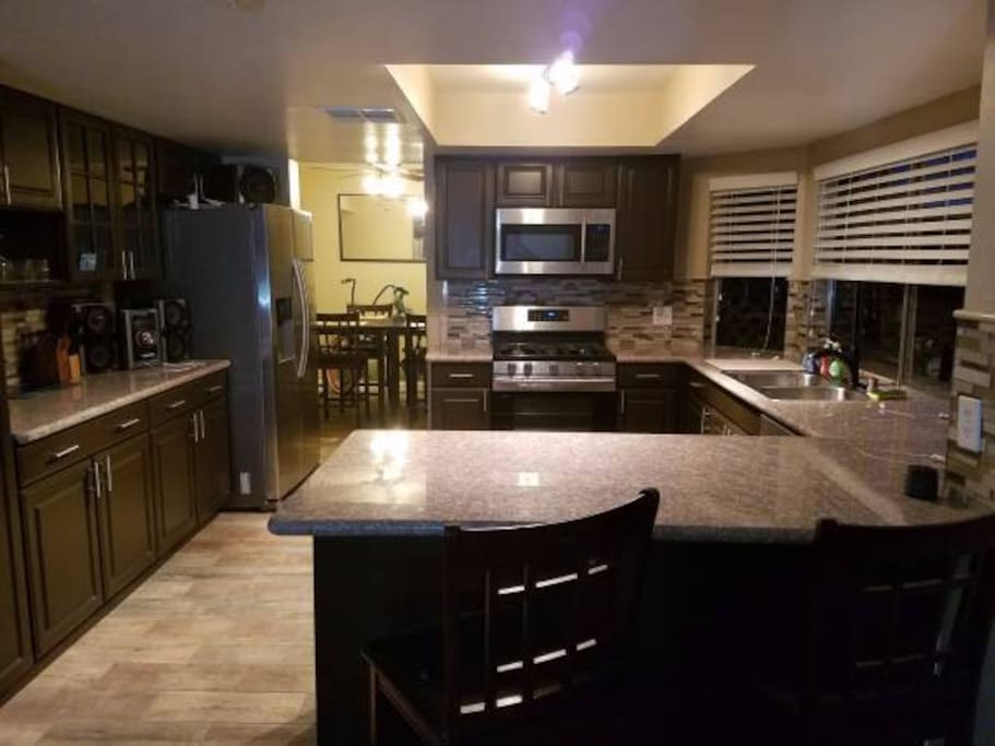 Updated and remodeled kitchen