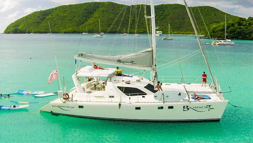 Braveheart crewed catamaran yacht