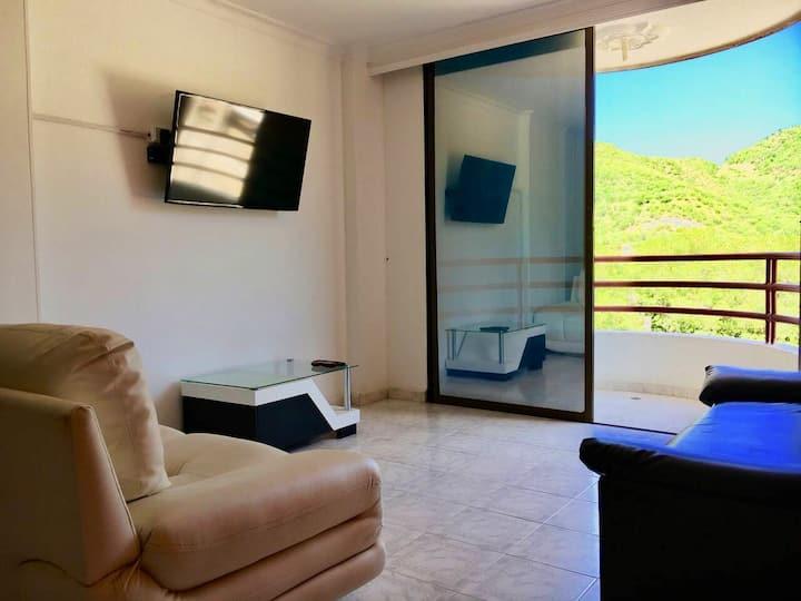 Relajante apartamento con piscina cerca al mar