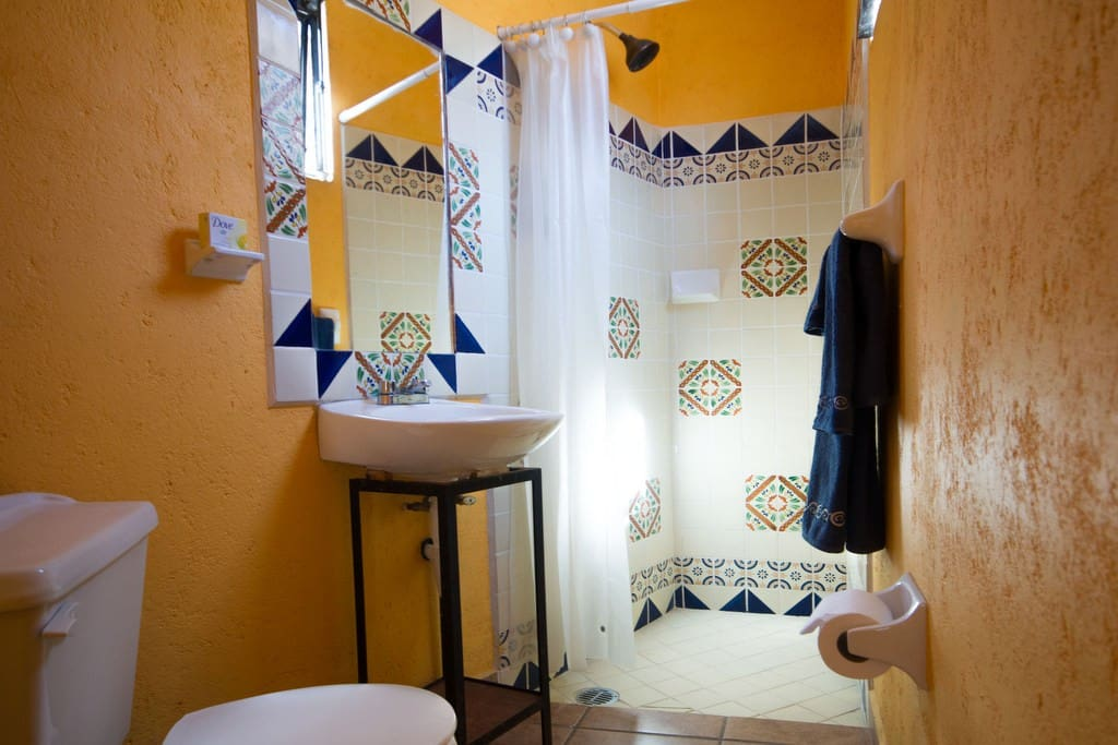 Bathroom with Talavera Shower