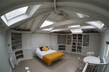 Loft bedroom / living area on first floor