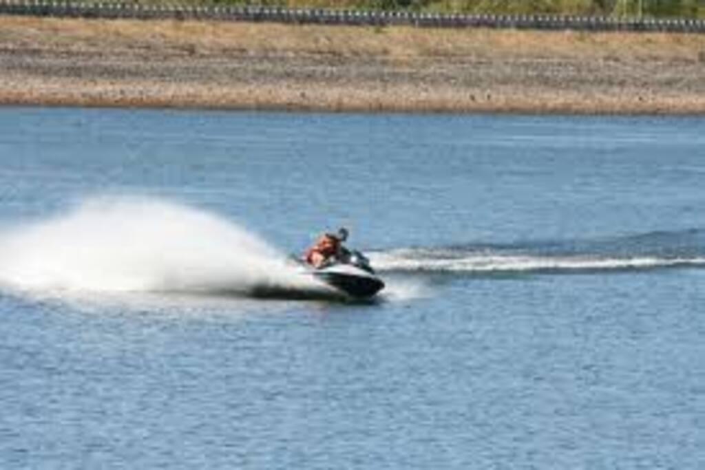 Uma das actividades que é possivel fazer na barragem..