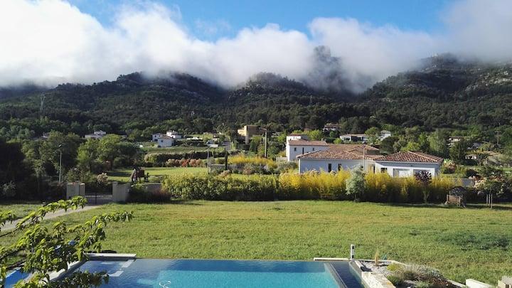 Entre Soleil et Horizon, villa avec vue féérique