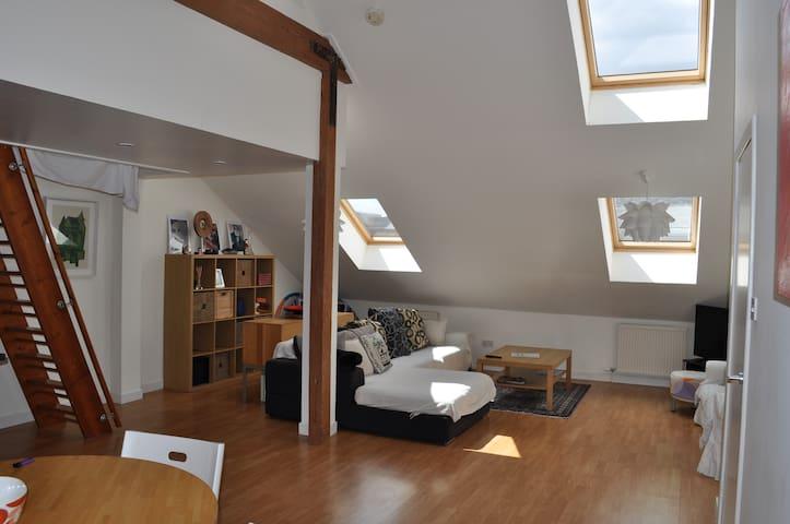 Bright and spacious city centre loft apartment