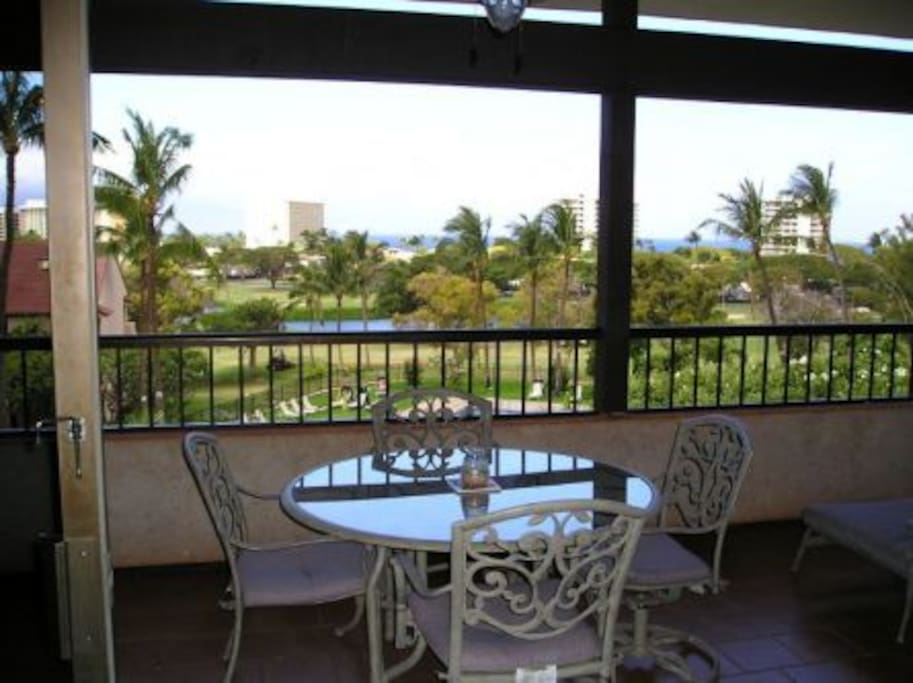 Lanai - with wonderful ocean views & sunshade