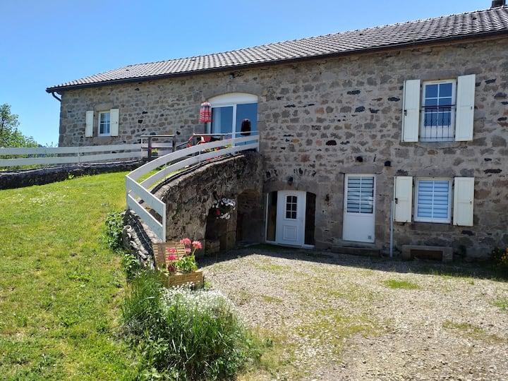 Ferme rénovée 4 étoiles, balnéo +  sauna, Auvergne